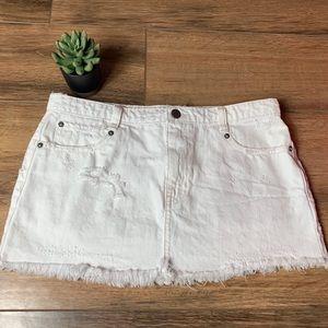 FP white denim skirt!! 🔥
